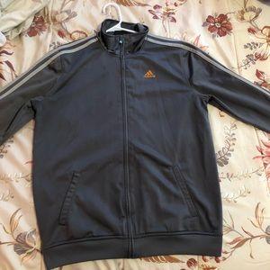 Grey Adidas Zip Up Sweater